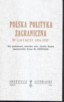 Polska polityka zagraniczna w latach 1926-1932 / Cienciała