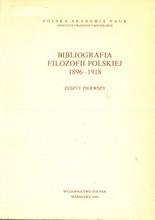 Bibliografia filozofii polskiej 1896-1918