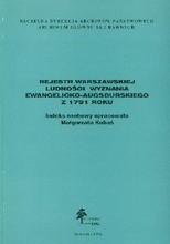Rejestr warszawskiej ludności wyznania ewangelicko-augsburskiego