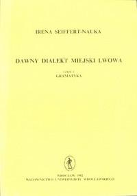 Dawny dialekt miejski Lwowa