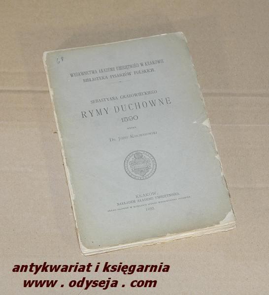 Rymy duchowne / Grabowiecki