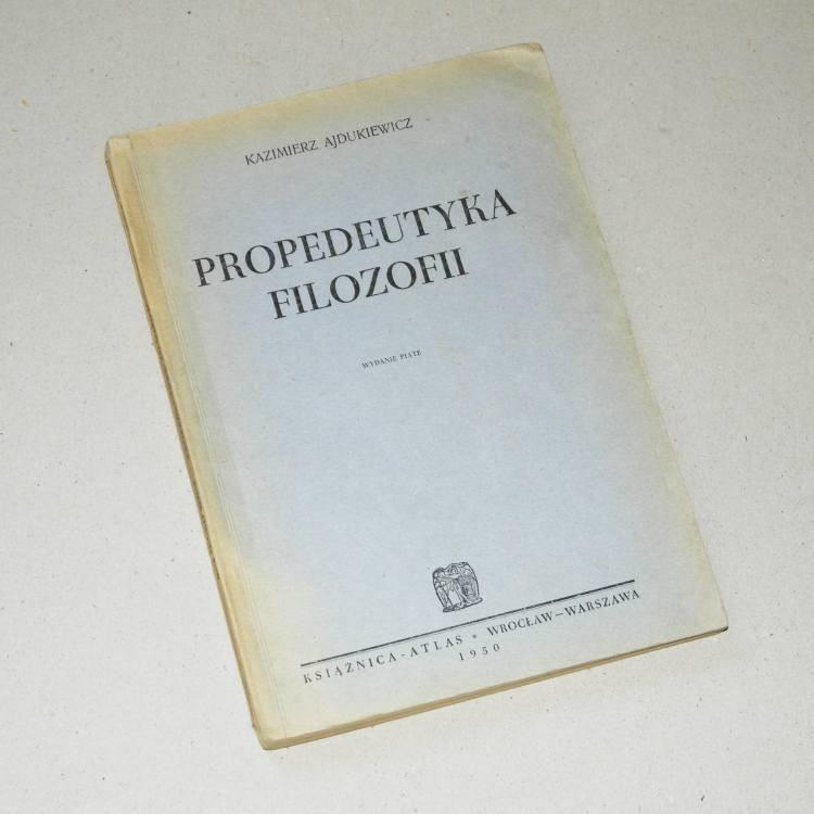 Propedełtyka filozofii /  Ajdukiewicz