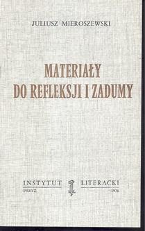 Materiały do refleksji i zadumy  / Mieroszewski