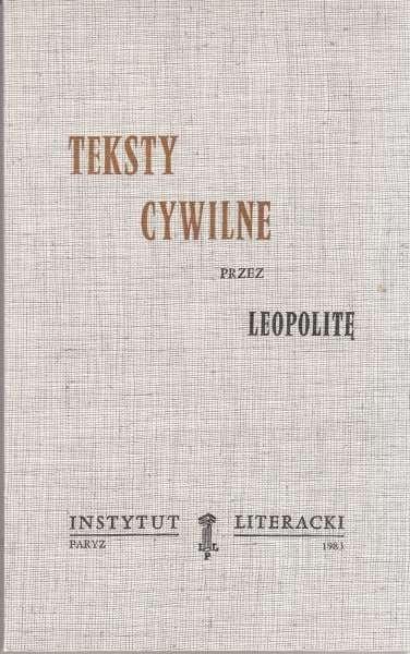 Teksty cywilne przez Leopolitę
