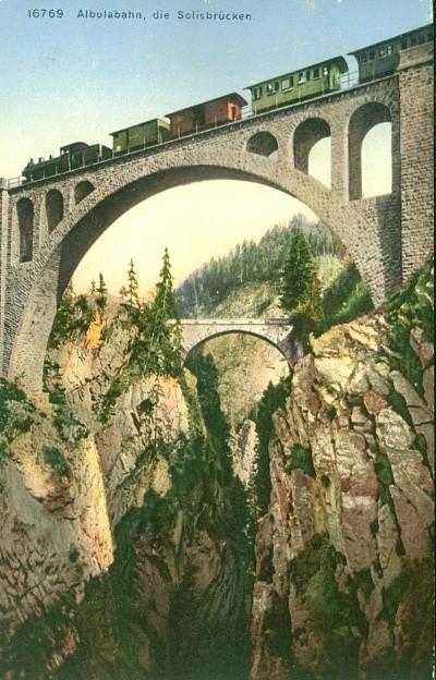Albulabahn, die Solisbrücken