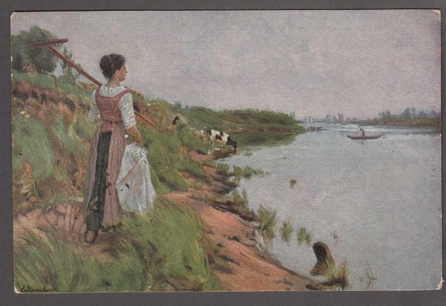 Ernst Henseler An der Warthe Arthur Rehn & Co. Nr 389 Art Postcard