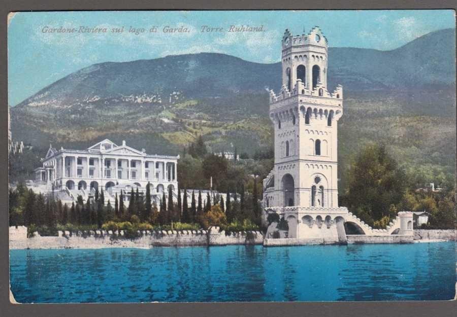 Gardone-Riviera sul lago di Garda. Torre Ruhland