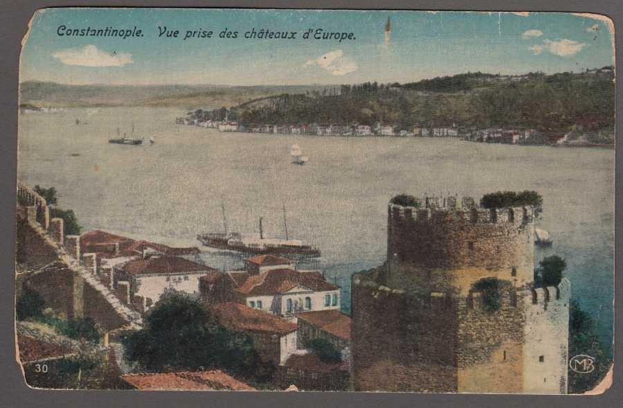 Constantinople. Vue prise des chateaux d'Europe