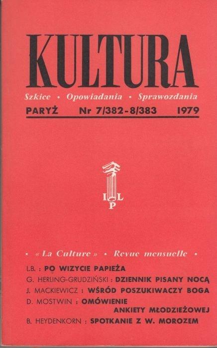 KULTURA  7/382 - 8/383 1979