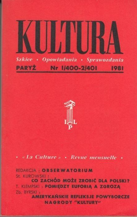 KULTURA  1/400 - 2/401 1981