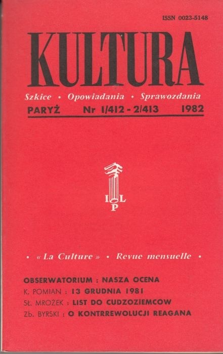 KULTURA  1/412 - 2/413 1982