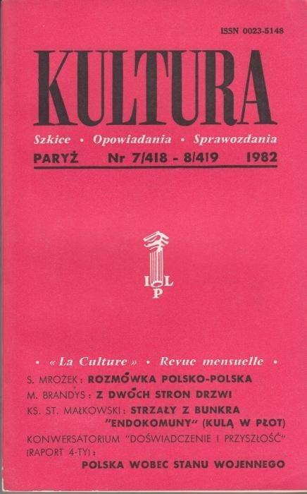KULTURA  7/418 - 8/419 1982