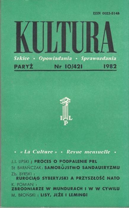 KULTURA  10/421  1982