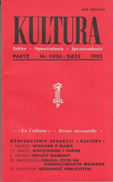 KULTURA  1/424 - 2/425 1983