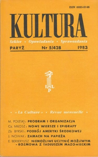 KULTURA  5/428  1983