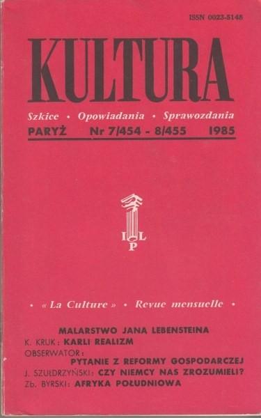 KULTURA  7/454 - 8/455 1985