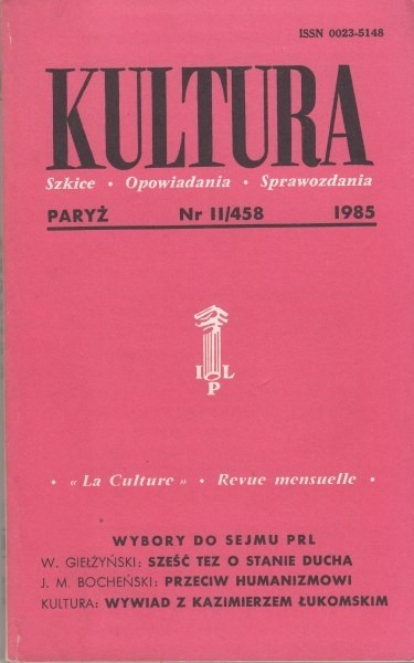 KULTURA  11/458  1985