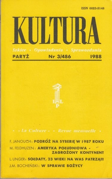 KULTURA  3/486  1988