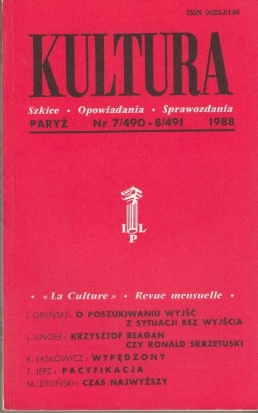 KULTURA  7/490 - 8/491 1988