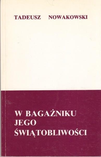 W bagażniku jego świątobliwości /  Nowakowski