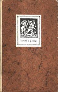 Strofy o poezji. Antologia.