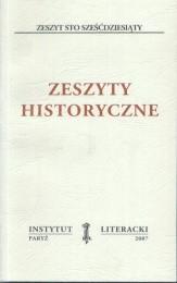 Zeszyty Historyczne zeszyt 160