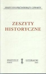 Zeszyty Historyczne zeszyt 154