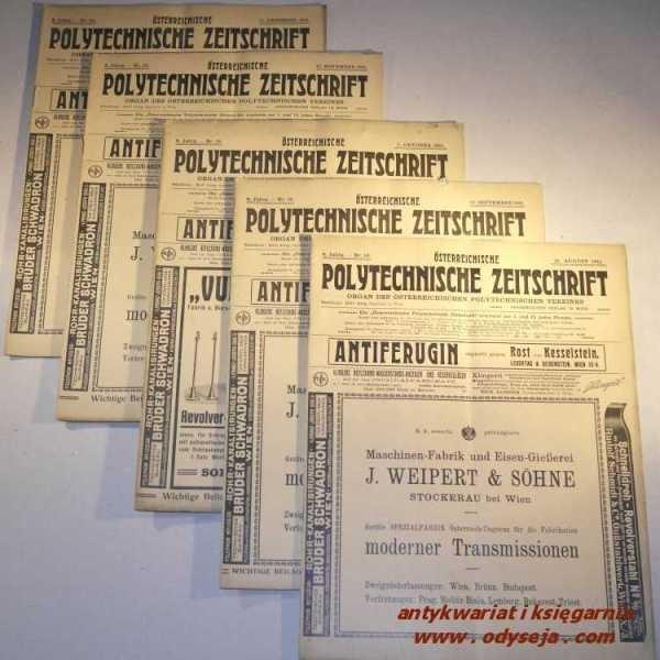 Österreichische Polytechnische Zeitschrift Organ Österreichischen Polytechnischen Vereines 1911