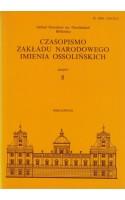 Czasopismo Zakładu Narodowego Imienia Ossolińskich Zeszyt 8