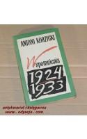 Wspomnienia 1924 - 1933  /  Korzycki
