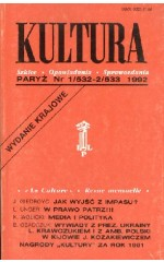 KULTURA nr 1/532-2/533  1992