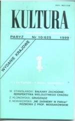 KULTURA nr 10/625  1999