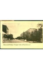 Litzmannstadt / Warthegaŭ. Danziger Straße mit Reservelazarett