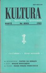 KULTURA  4/415  1982