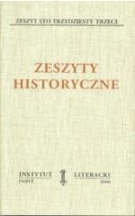 Zeszyty Historyczne zeszyt 133