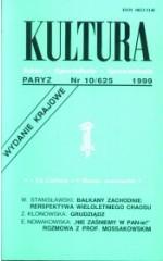 Kultura nr 10/625 (wydanie krajowe) 1999